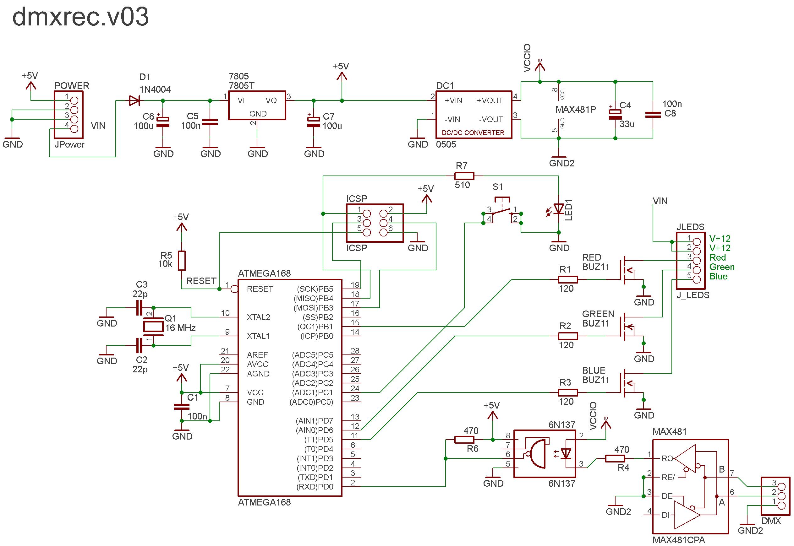 Схема dmx контроллер