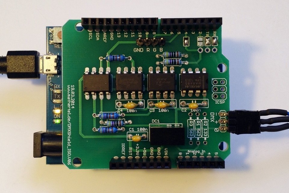 Dmx Shield For Arduino With Isolation